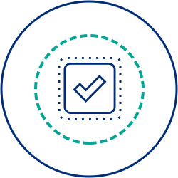 checkmark icon in circle